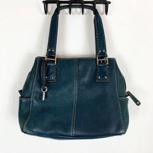 Fossil Crossbody Bag Purse Key Hang Tag Leather